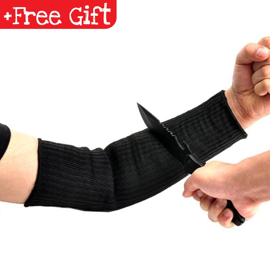 Self Defence Arm Sleeves Shield Guard Build Steel Fiber Anti Cut Resistant Gift Shopee Malaysia