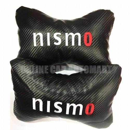 Nismo Carbon Car/Auto Head/Neck Rest Pillow (2 Pcs)