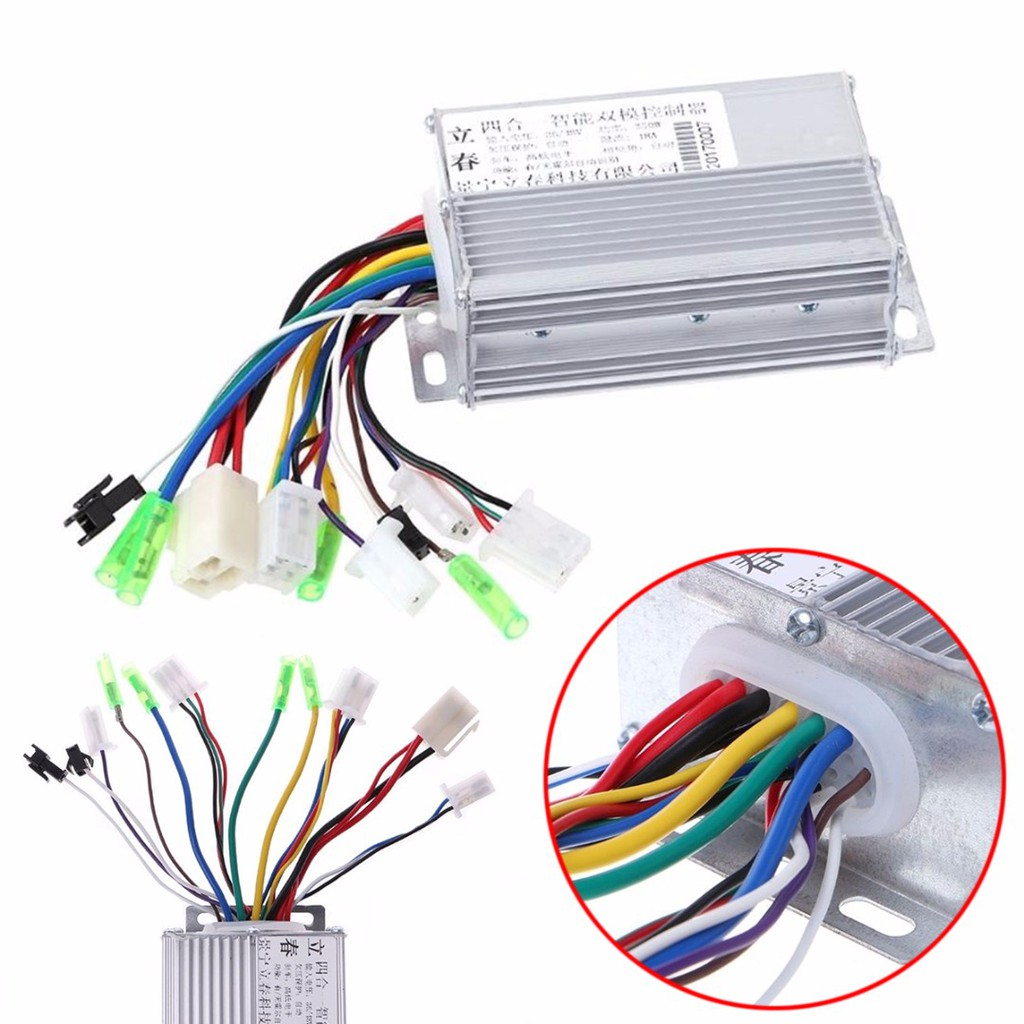 Electric Bike Brushless Motor Controller 36V-250W//48V-350W for Electric Scooters