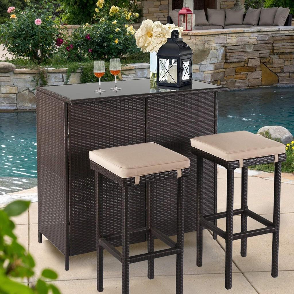 ipro rattan bar set rattan patio furniture set for outdoor indoor