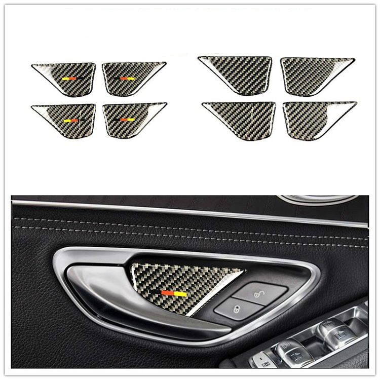 4Pc Chrome Door autio Speaker Cover  for Mercedes Benz GLC C//E Class Door Audio