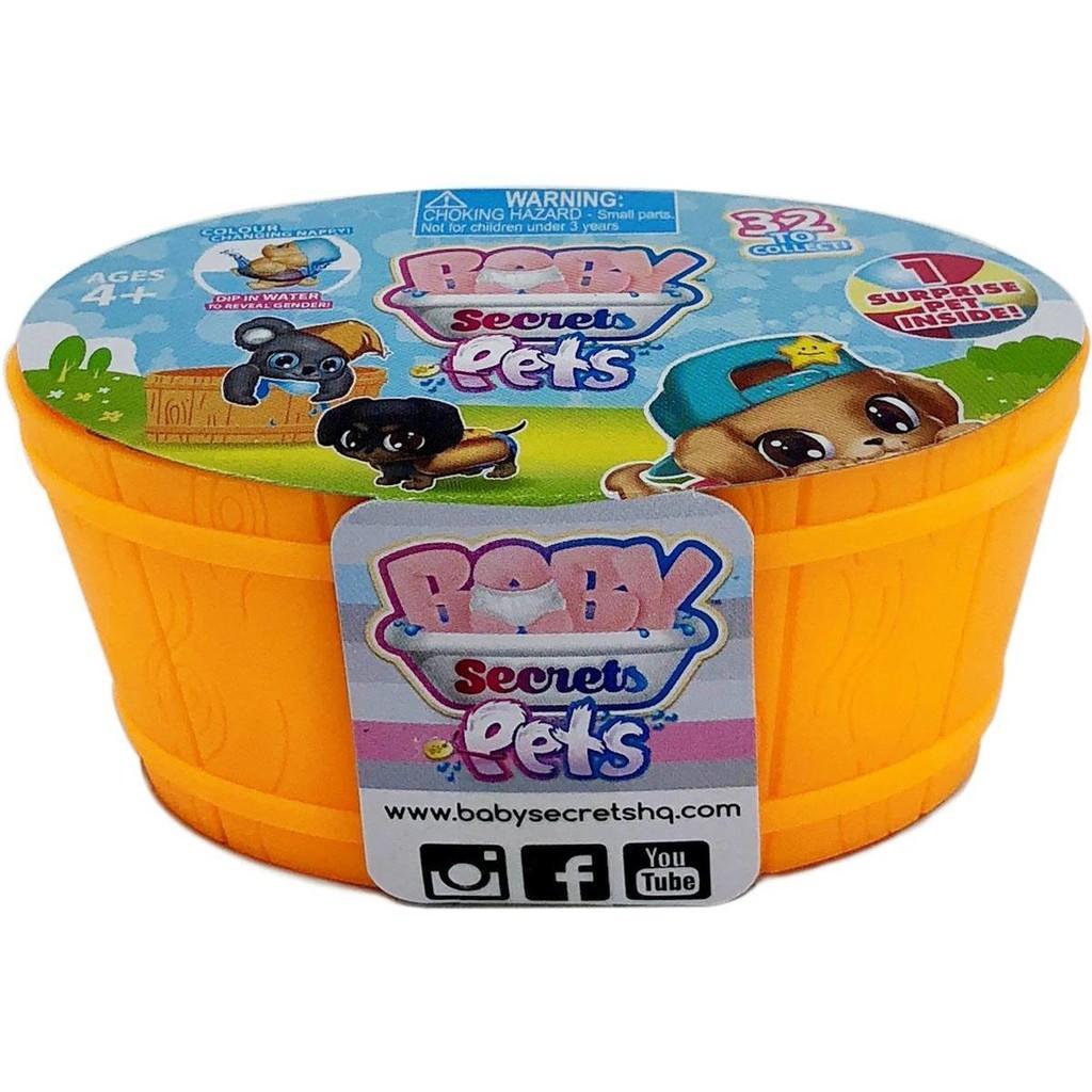 Baby Secrets Pets ตุ๊กตาสัตว์เลี้ยงตัวน้องในอ่างอาบน้ำ BS