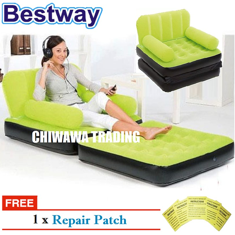 PROMOTION 67277 BESTWAY 2IN1 Inflatable Air Mattress Sofa Seat Chair + Bed Lounge