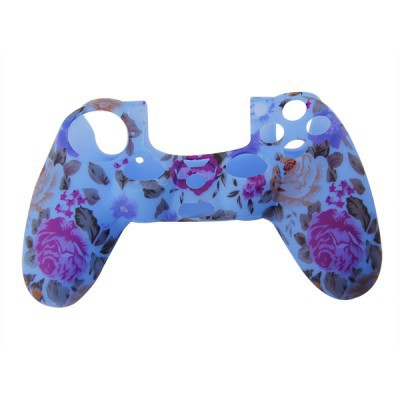 Ps4 Controller Silicone Cover Flower (Blue+Brown) (New) - 01286 Z