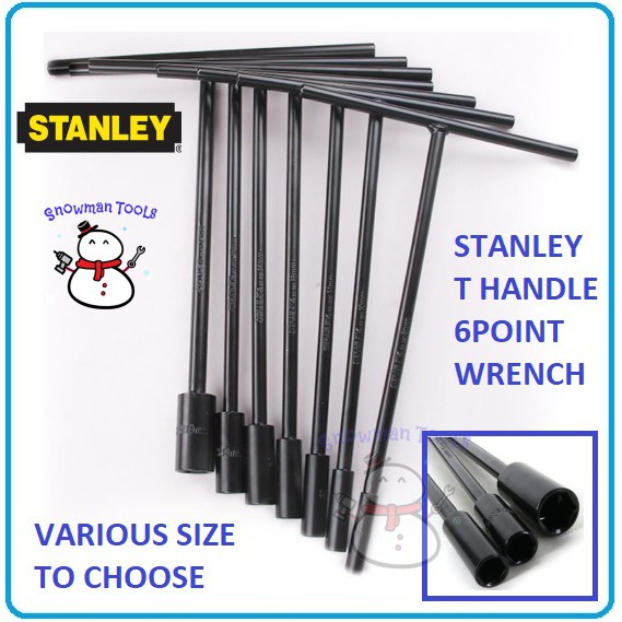 STANLEY T HANDLE 6POINT SOCKET WRENCH DRIVER NUT DRIVERS OPEN NUTS BUKA KERETA NUTS DIY HAND TOOL TOOLS