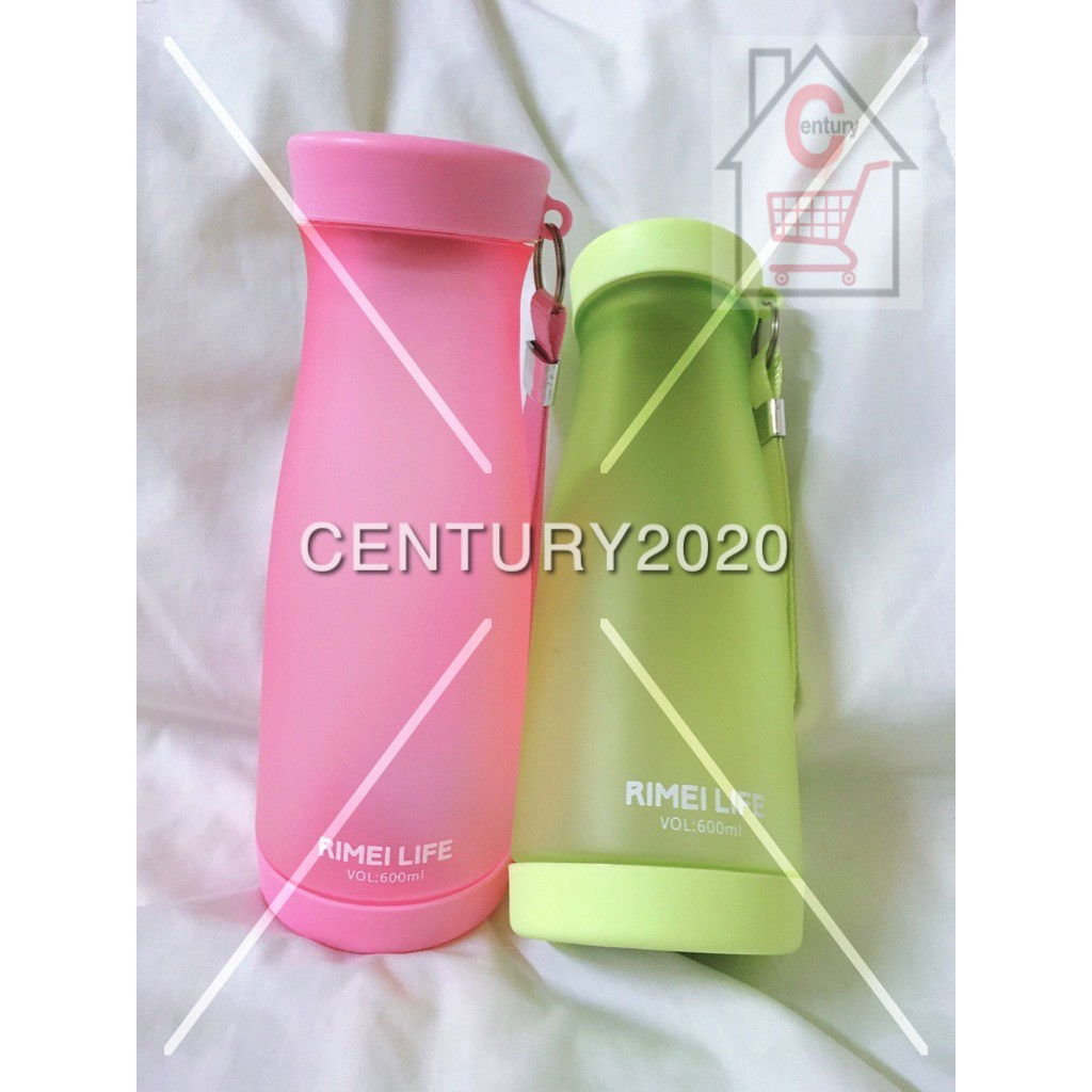 RIMEI Sports Water Bottle Space Cup Travel Mugs With Strap Portable Bottle 600ml