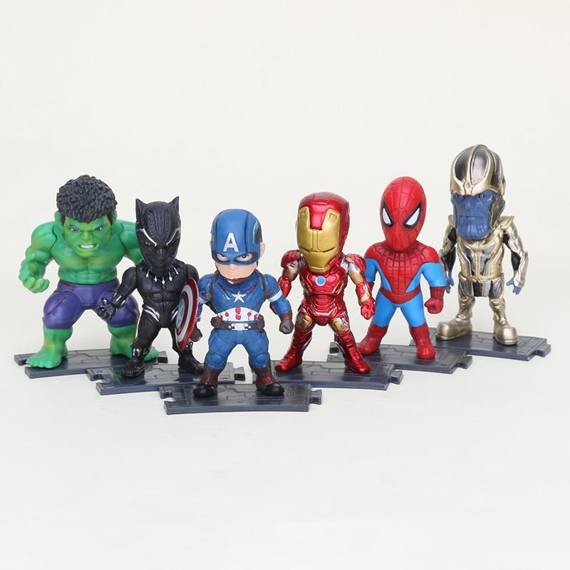 Avengers Figure Iron Man Captain America Shiled Thor Hammer 3pcs Set  Marvel New