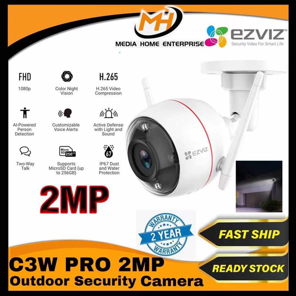 Ezviz C3W Pro (2MP) Outdoor Smart Wi-Fi Camera - Color Night Vision, AI Powered Person Detection, IP67